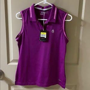 Nike golf dri-fit purple tank top NWT